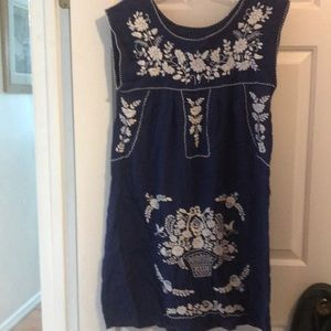 Mexican sleeveless sundress